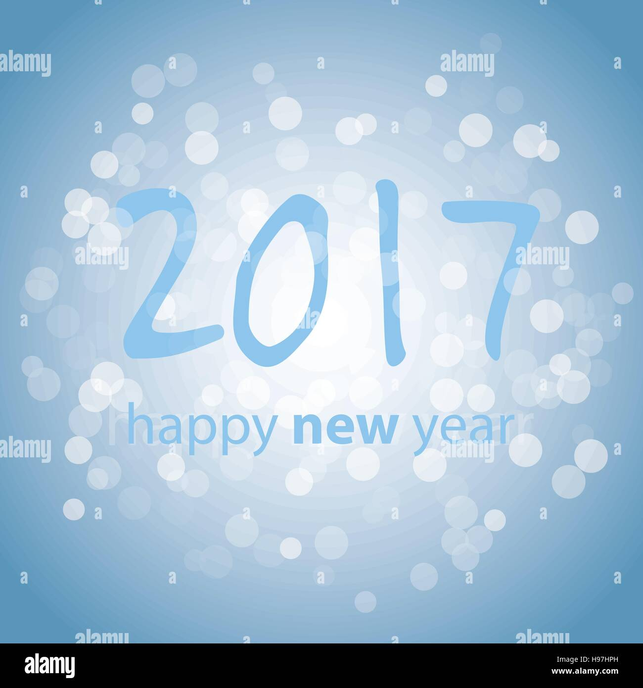 Best Wishes Blue Abstract Modern Style Happy New Year Greeting