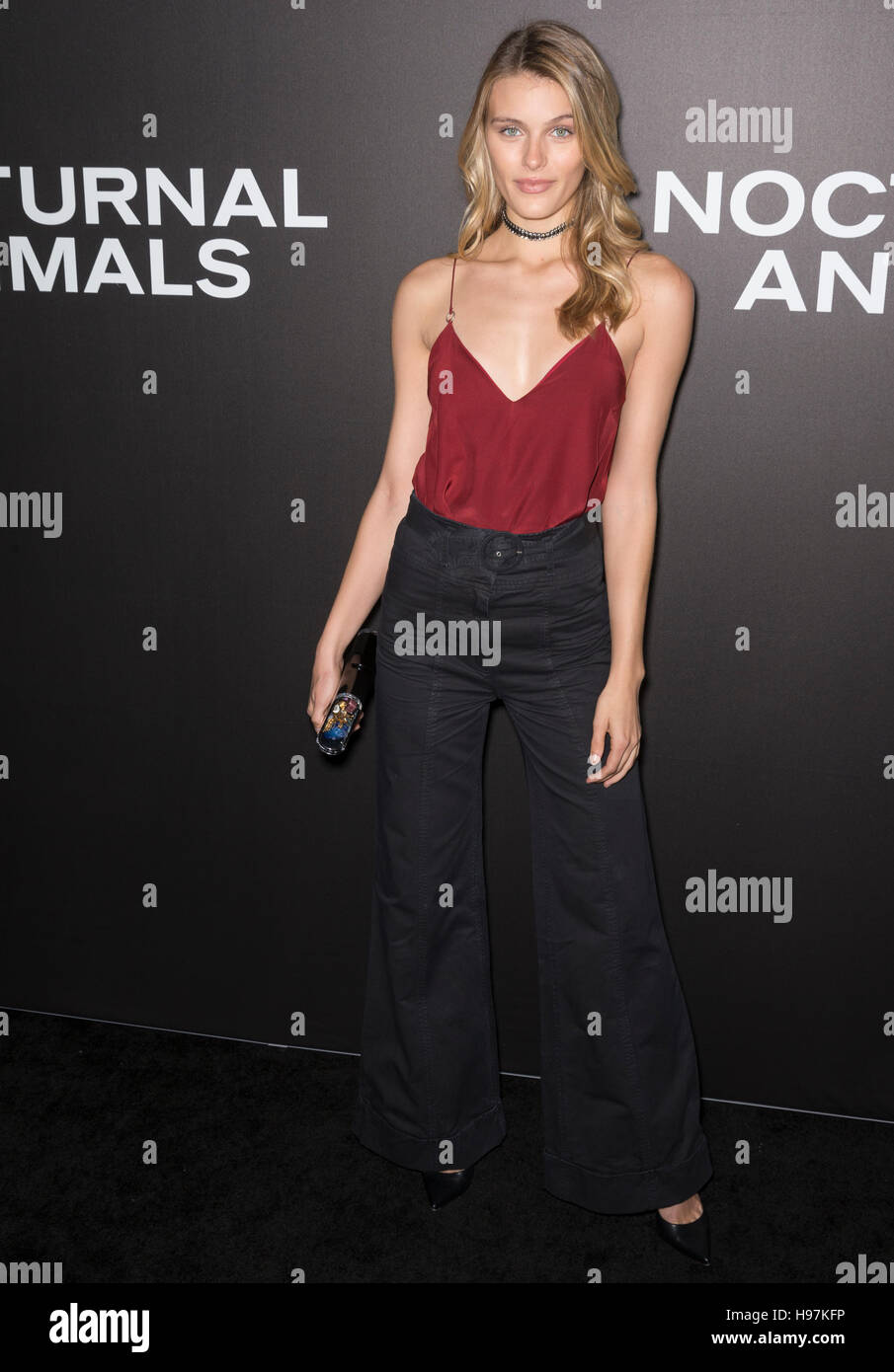New York City, USA - November 17, 2016: Model Madison Headrick attends the 'Nocturnal Animals' New York - Stock Image