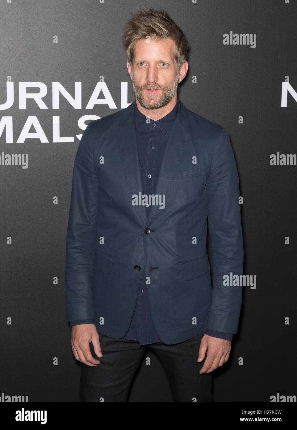 New York City, USA - November 17, 2016: Actor Paul Sparks attends the 'Nocturnal Animals' New York premiere - Stock Image