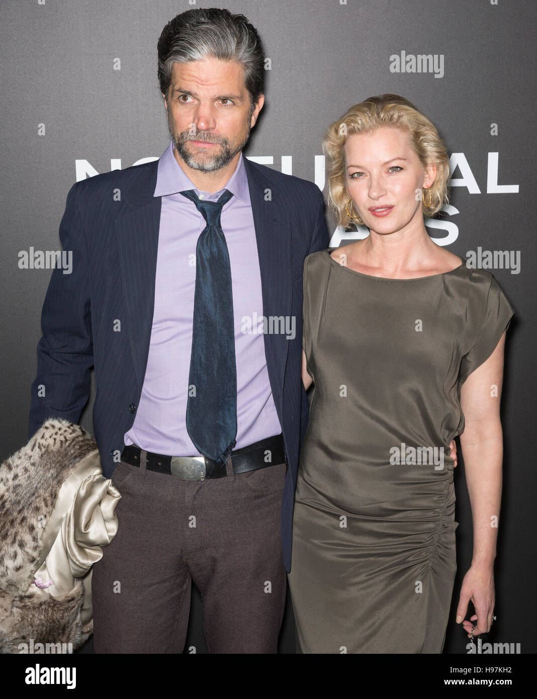 New York City, USA - November 17, 2016: Tod Williams and actress Gretchen Mol attend the 'Nocturnal Animals' New Stock Photo