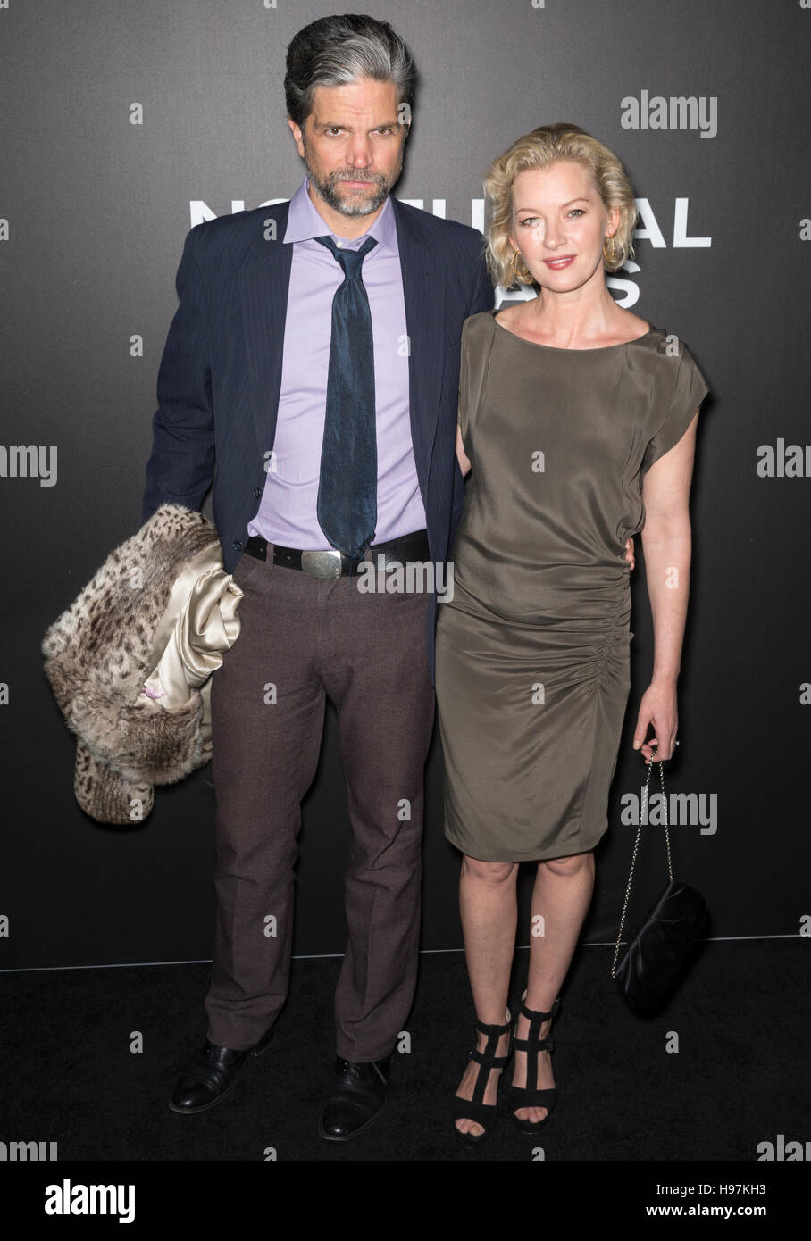 New York City, USA - November 17, 2016: Tod Williams and actress Gretchen Mol attend the 'Nocturnal Animals' - Stock Image