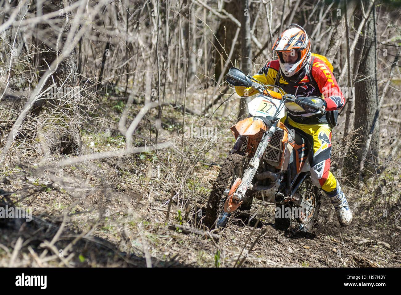 Hard Enduro Rally Khekhtsirsky Ridge 2016 Stock Photo