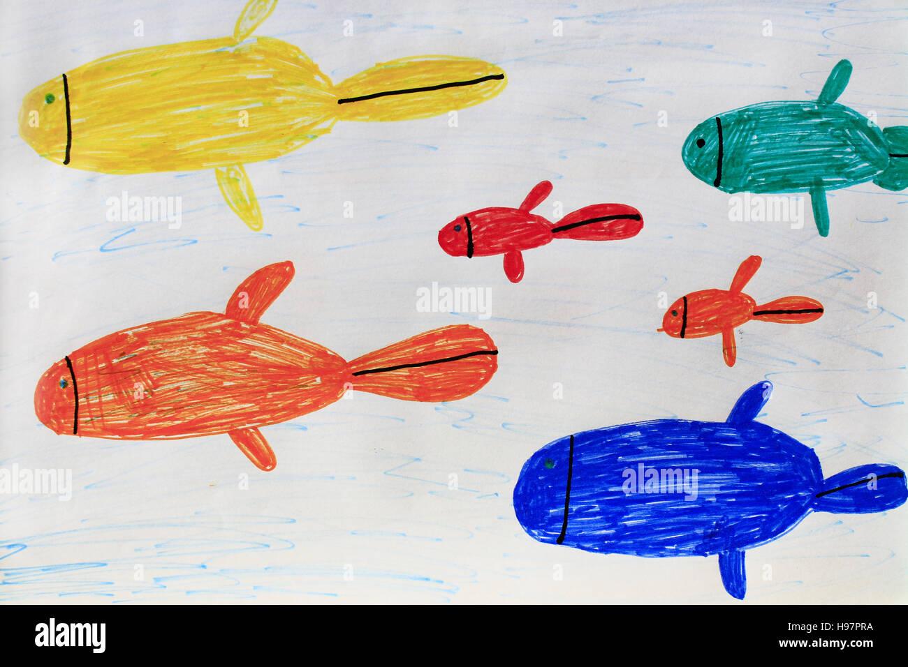 Pencil drawing aquarium fish on stock photos pencil drawing
