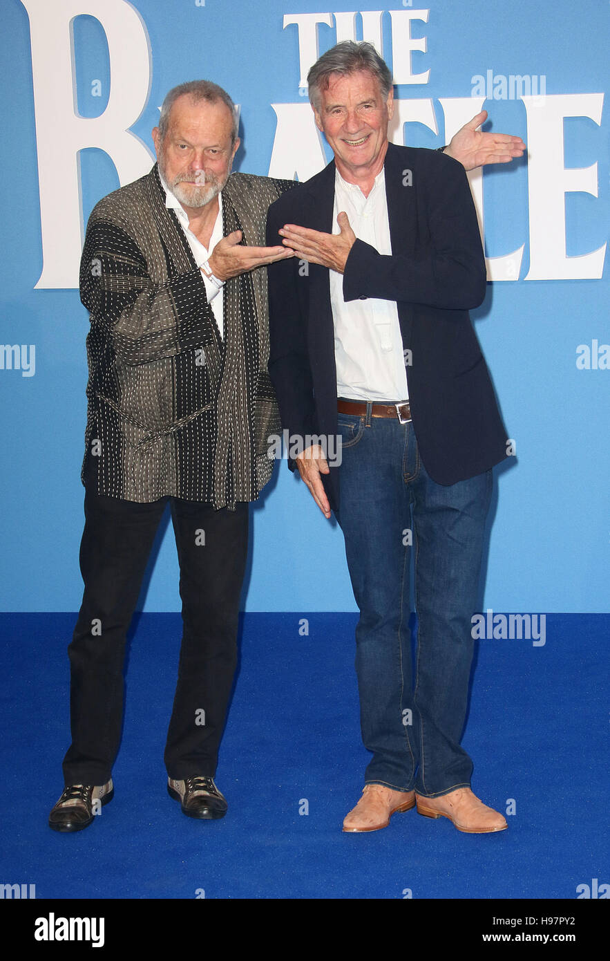 September 15, 2016 - Terry Gilliam and Michael Palin attending 'Eight Days a Week The Touring Years' World - Stock Image