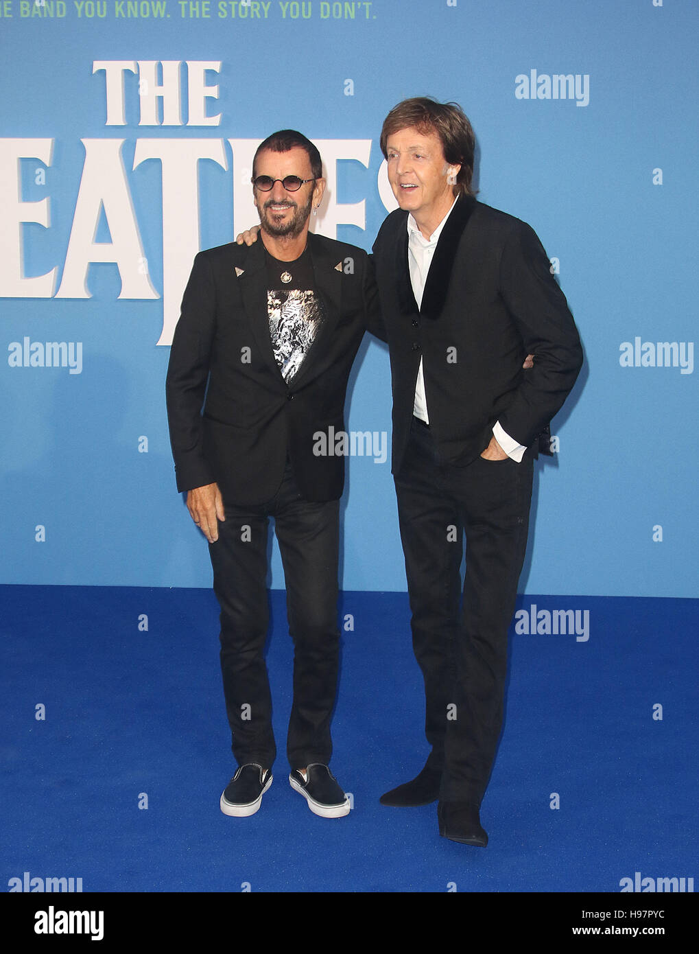 September 15, 2016 - Ringo Starr and Paul McCartney attending 'Eight Days a Week The Touring Years' World - Stock Image