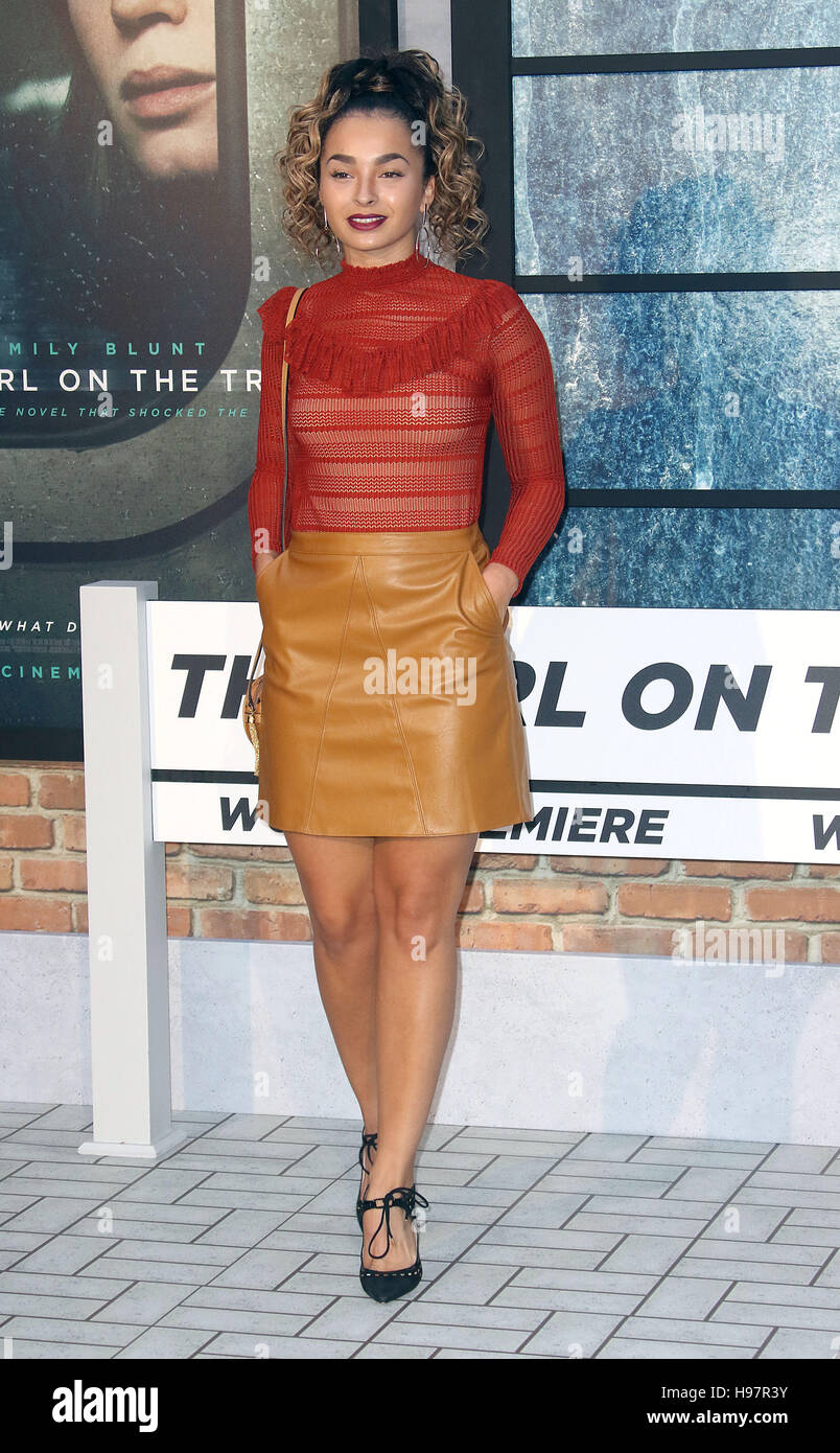 "Sep 20, 2016 - Ella Eyre attending ""The Girl On The Train"" - World Premiere at Odeon Leicester Square in London, Stock Photo"