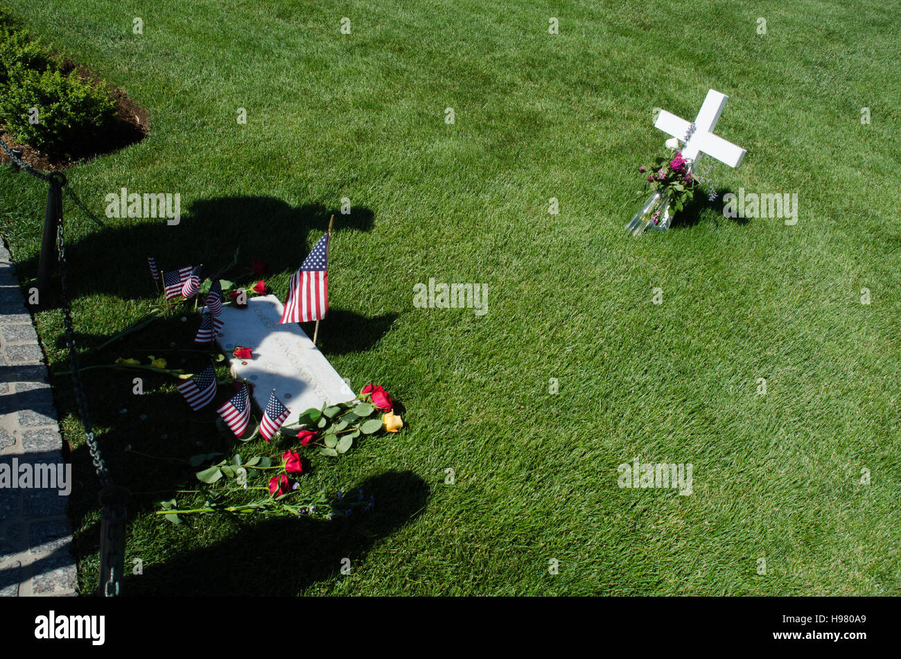 Grave of Robert F Kennedy at Arlington National Cemetery near Washington, DC. - Stock Image