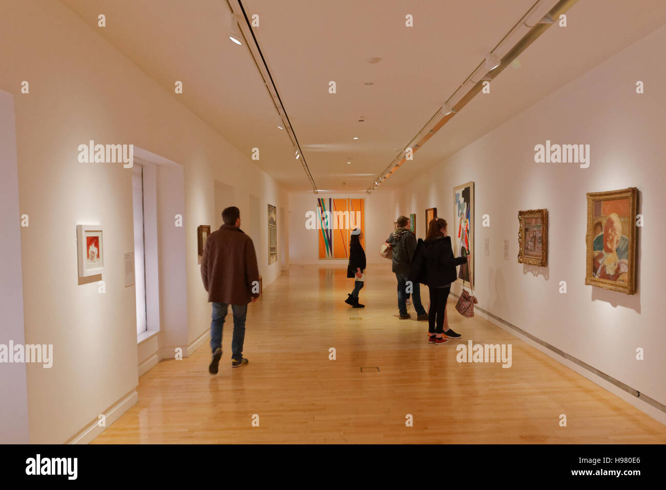 Interior Of Gallery Goma Glasgow Museum Of Modern Art Stock