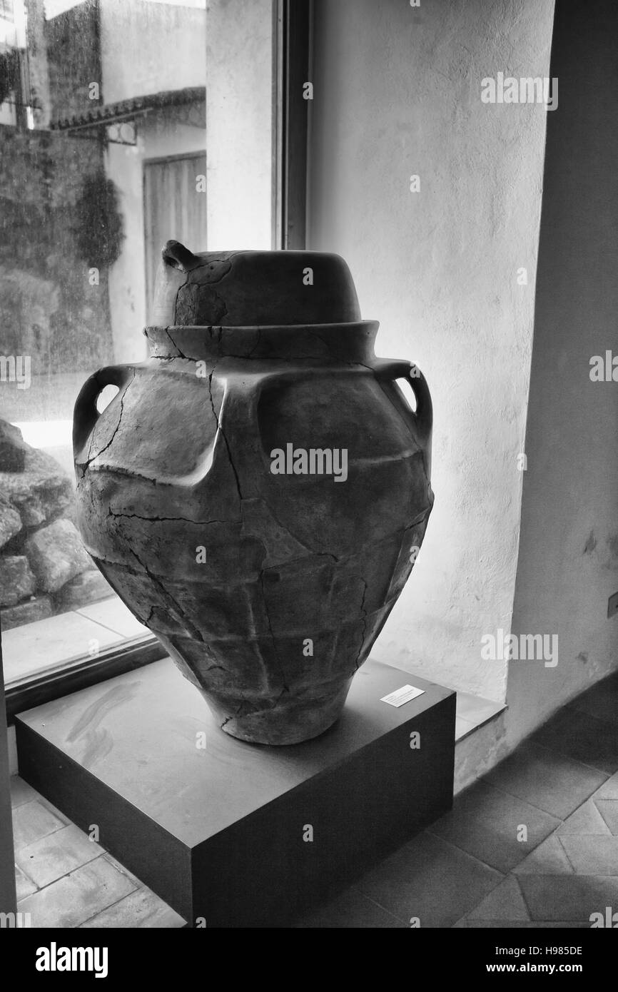 Archaeological antiquarium to Milazzo Messina, Sicily - Stock Image