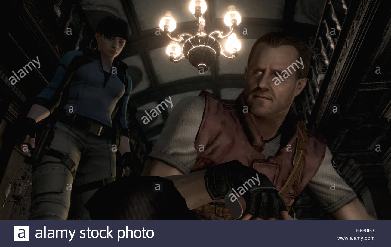 A Resident Evil HD remake on PS4 screenshot - Stock Image