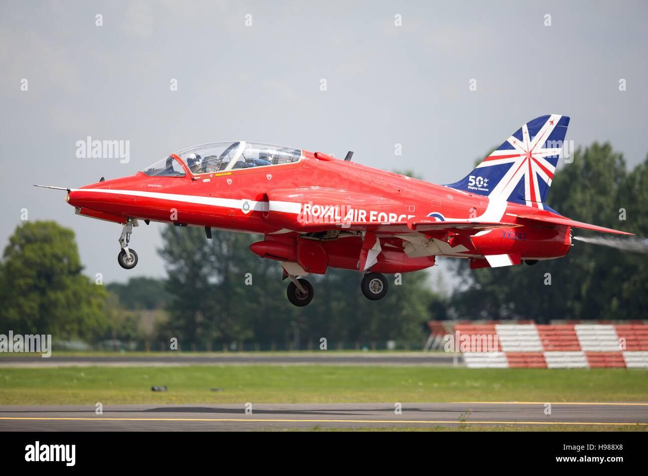A Red Arrows BAE Hawk - Stock Image