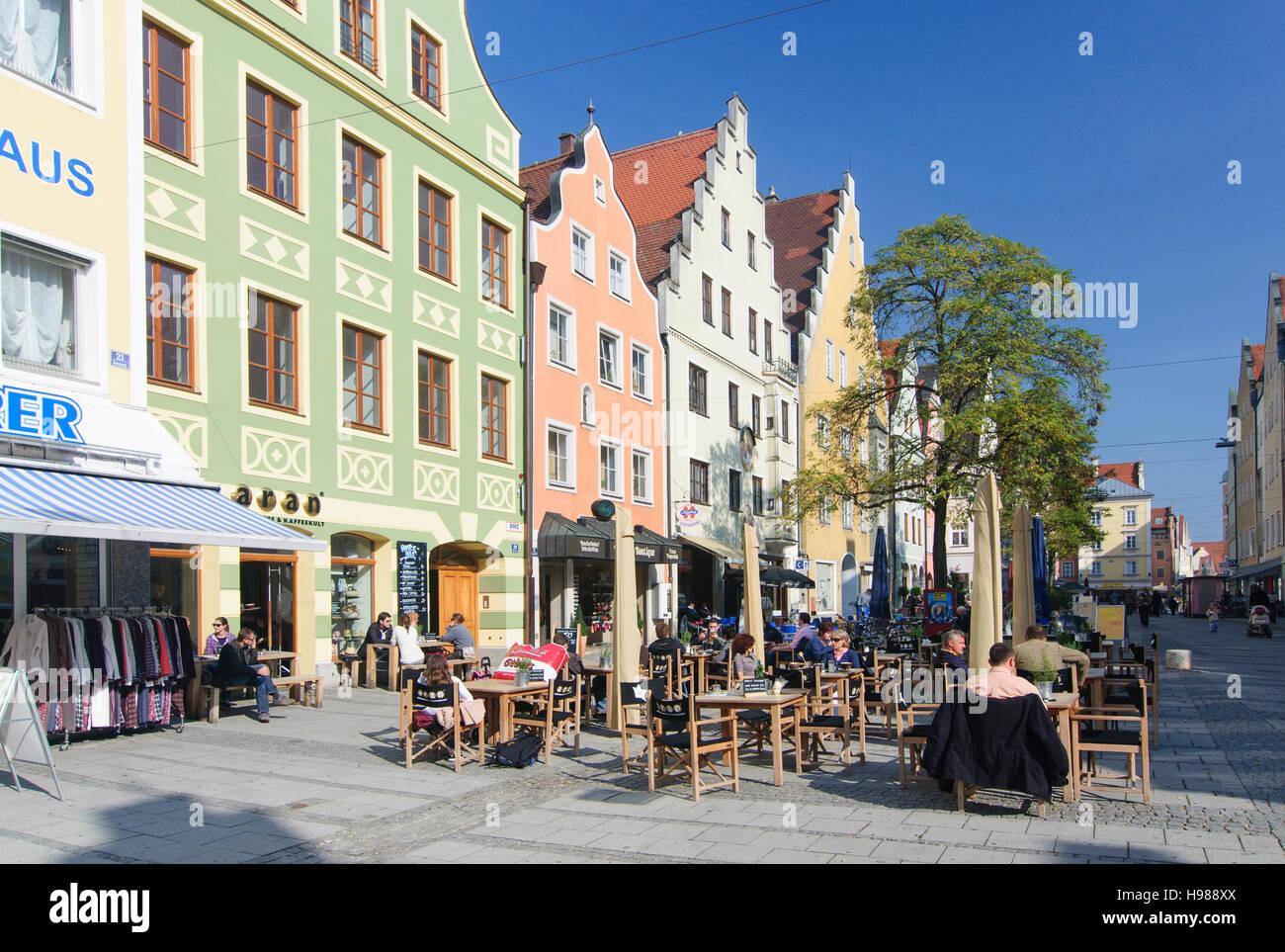 Ingolstadt: street Theresienstraße, Oberbayern, Upper Bavaria, Bayern, Bavaria, Germany - Stock Image
