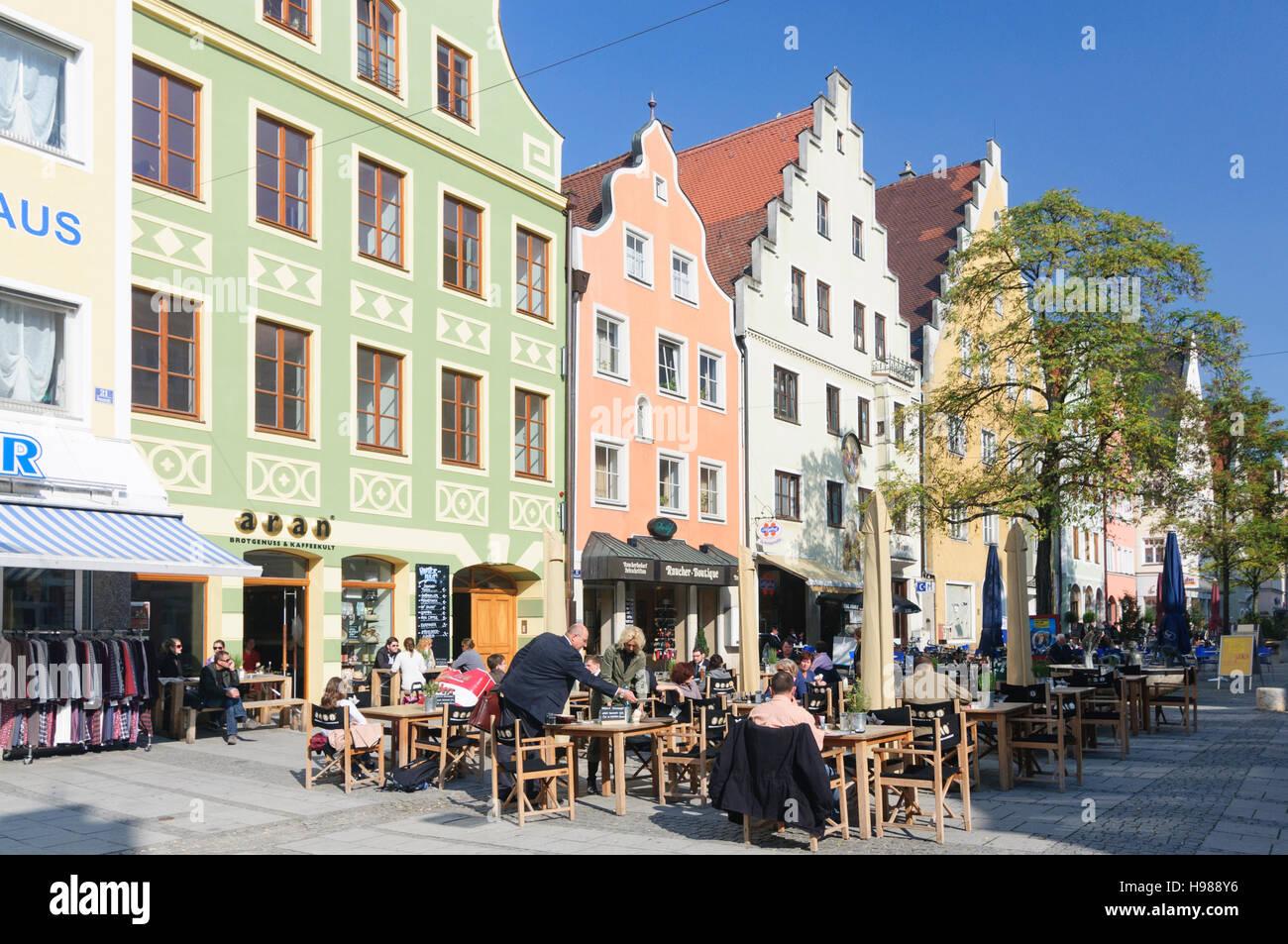 Ingolstadt: street Theresienstraße, Oberbayern, Upper Bavaria, Bayern, Bavaria, Germany Stock Photo