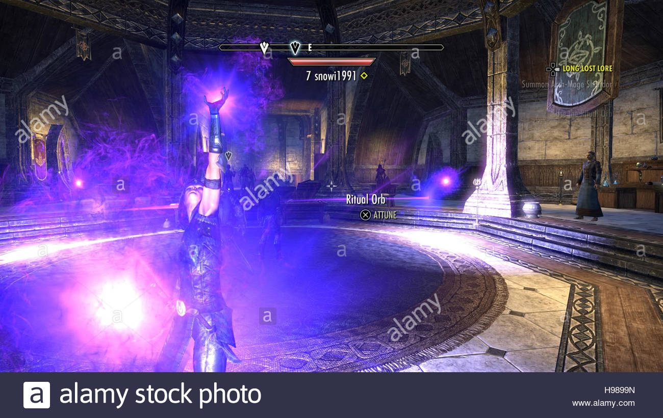 The Elder Scrolls Online Tamriel Unlimited screenshot from PS4 gameplay - Stock Image