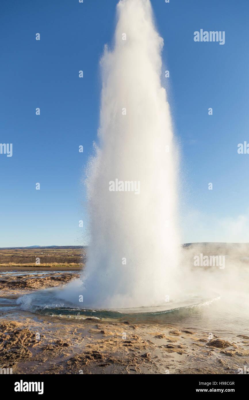 Strokkur Geysir Iceland - Stock Image