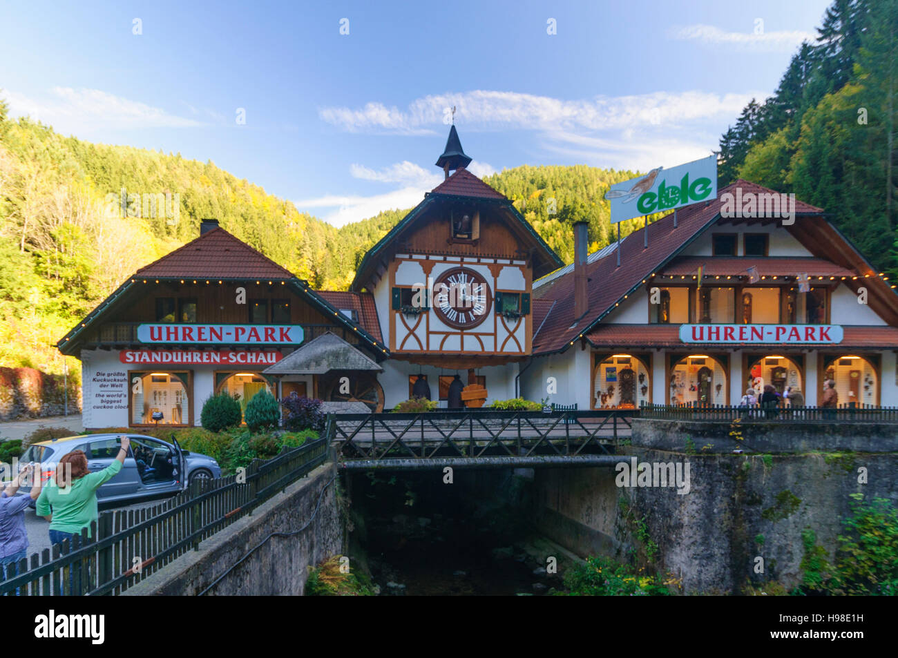 Triberg Im Schwarzwald Watch Shop On The Main Road With