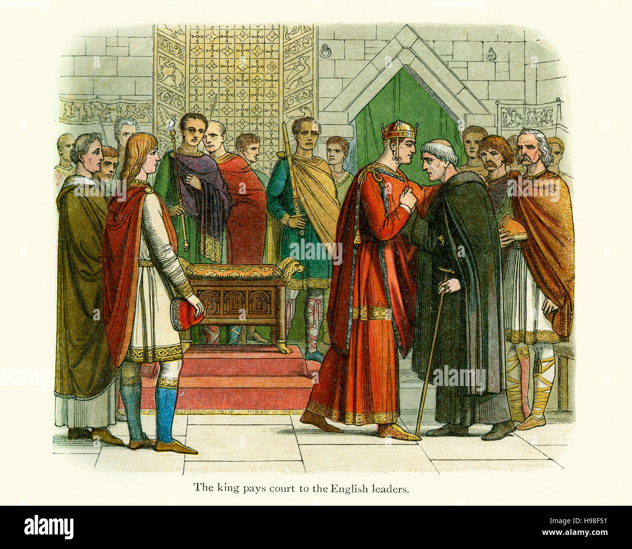 King William The Conqueror and the Leaders of the English. - Stock Image