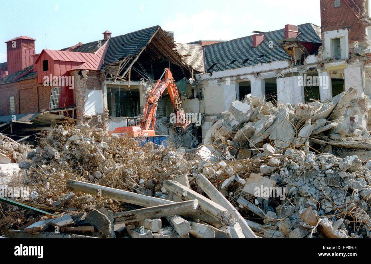 DEMOLITION of house 2014 - Stock Image