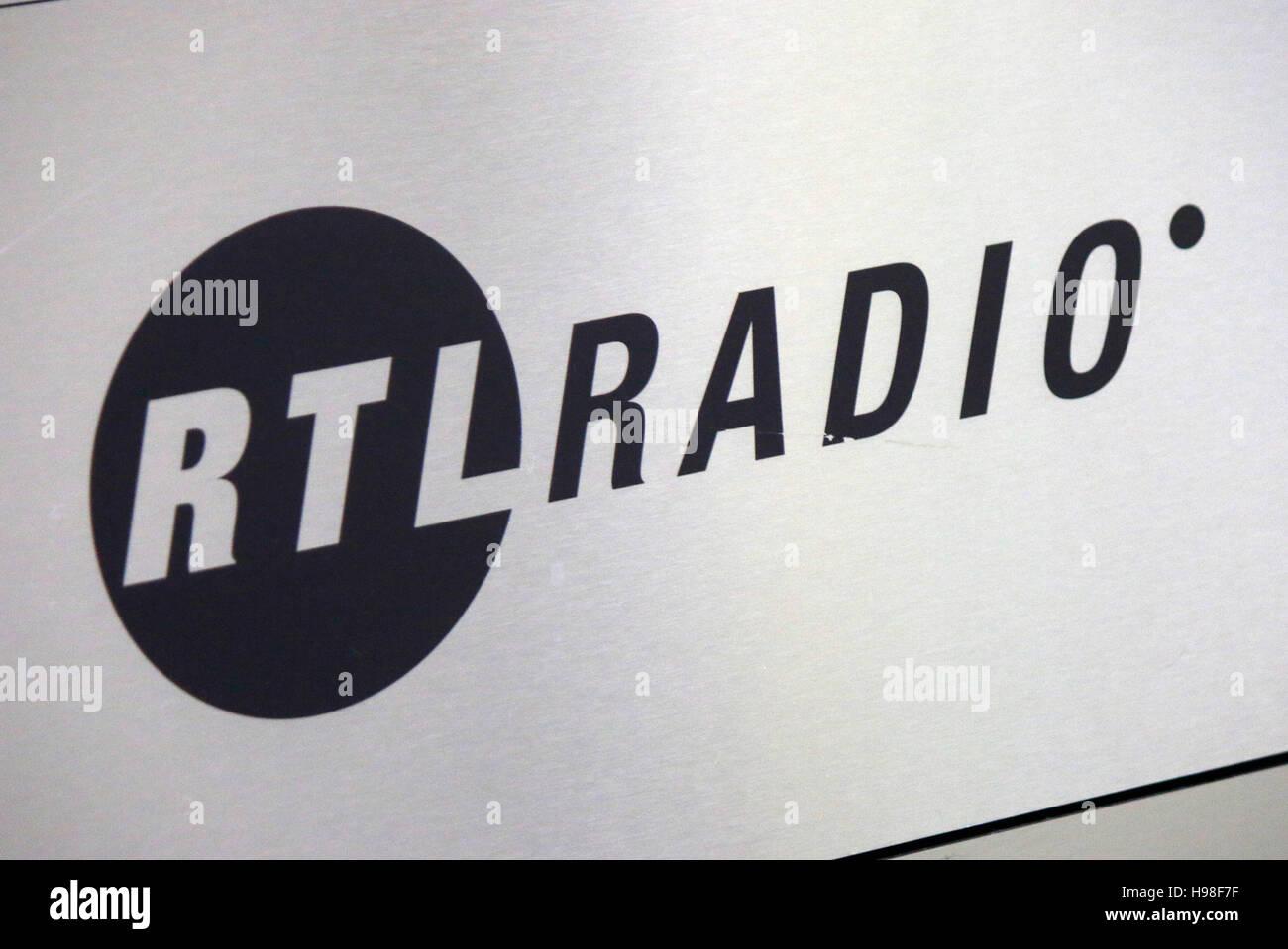 das Logo der Marke 'RTL Radio', Berlin. - Stock Image
