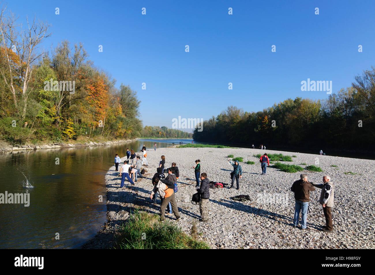 Augsburg: Zusammenfluss Fluss Wertach und Fluss Lech, Schwaben, Swabia, Bayern, Bavaria, Germany - Stock Image