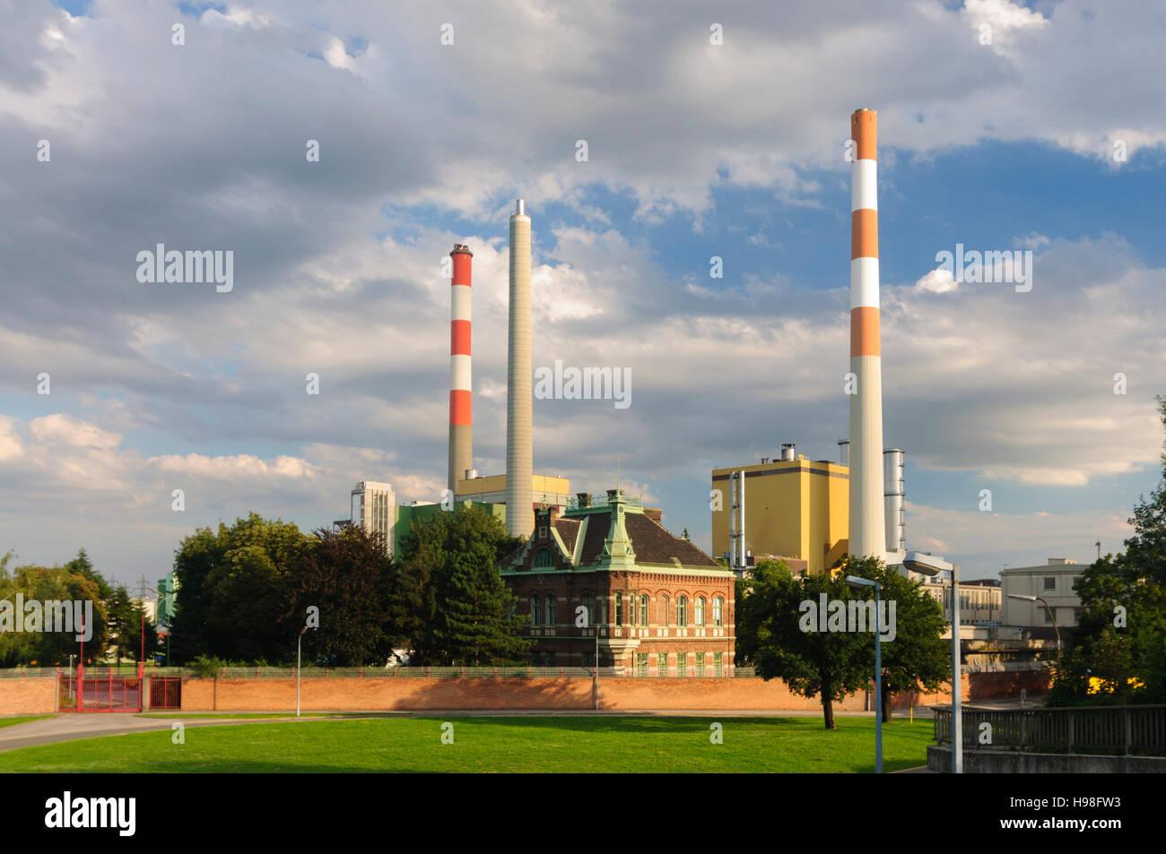 Wien, Vienna: Simmering power station of Wienstrom, 11., Wien, Austria - Stock Image
