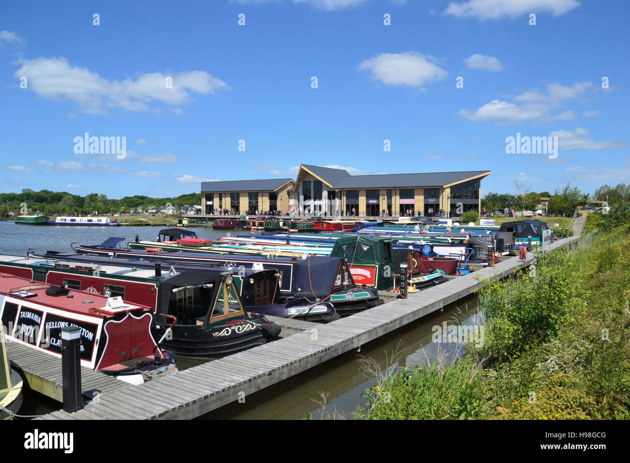 Mercia Marina, Europe's largest inland marina just off the Trent & Mersey Canal in Derbyshire near the village of Stock Photo