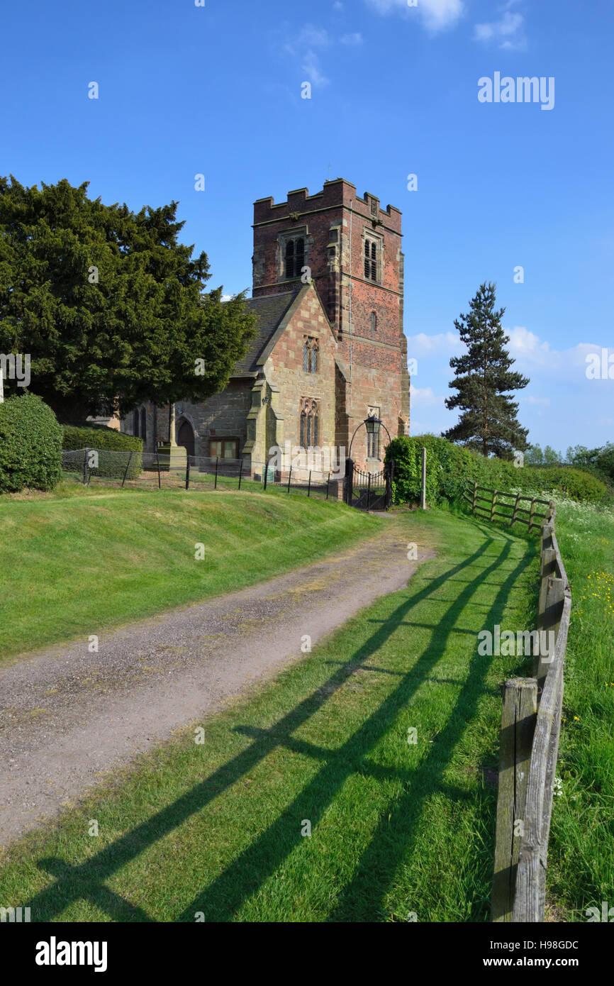 St Leonard's Church at Wychnor in Staffordshire Stock Photo
