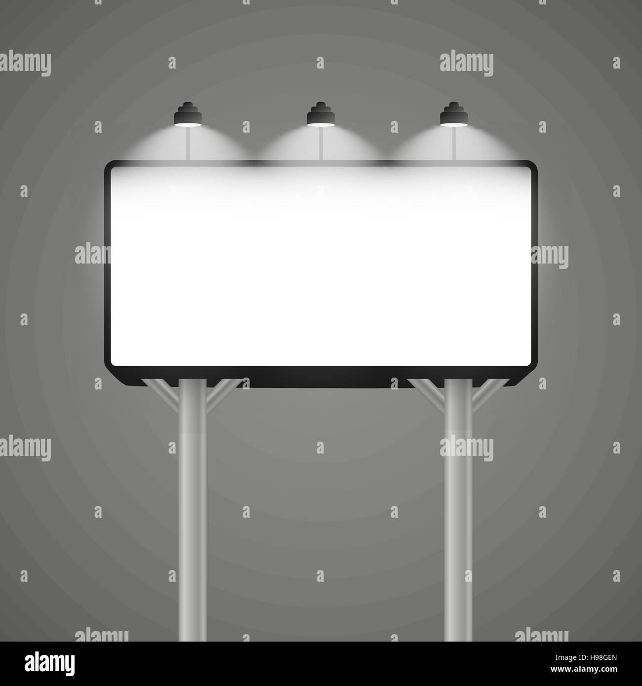Billboard Mockup Billboard Template Vector Illustration Eps 10