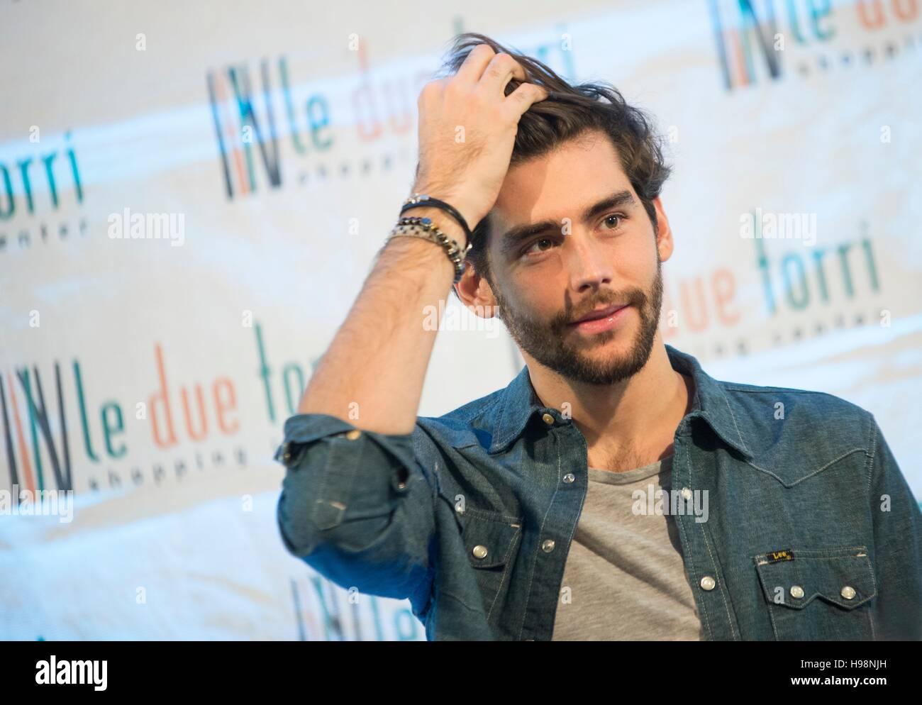 Bergamo, Italy. 19th Nov, 2016. Alvaro Soler, Spanish singer-songwriter, judge X-Factor Italy 2016. Today, Saturday Stock Photo