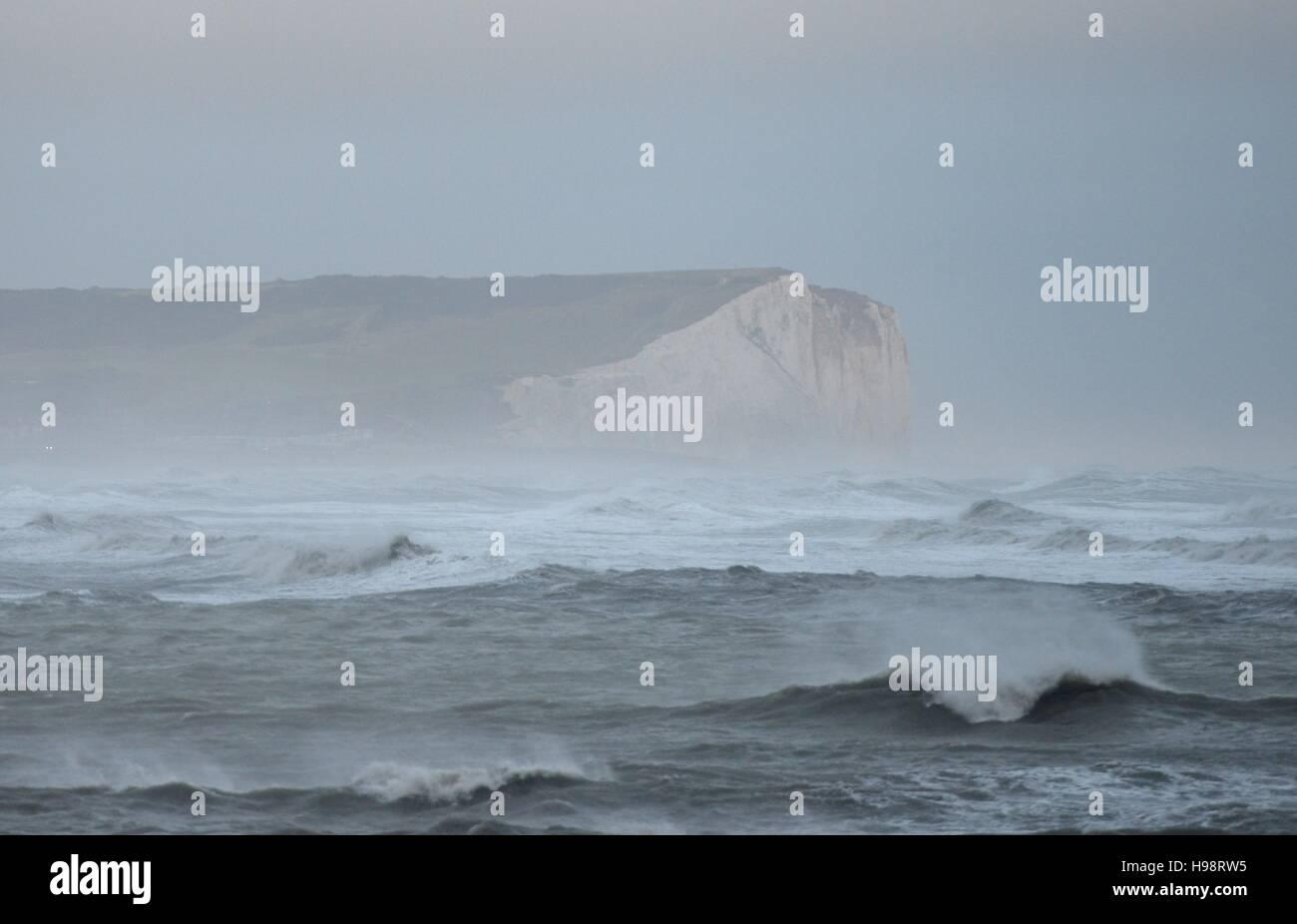 Newhaven U.K. 20th November 2016. Storm Angus hitting the South coast Credit:  Peter Cripps/Alamy Live News - Stock Image