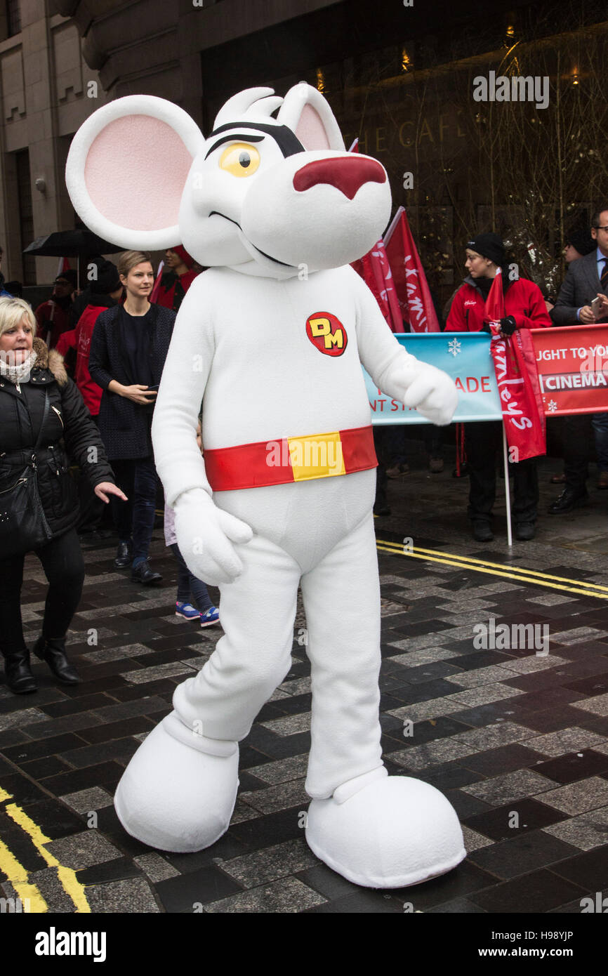 Danger Mouse. The 2016 Hamleys Christmas Toy Parade Takes Place Along  Regent Street, Which Went Traffic Free For The Day. The Parade Organised By  The ...