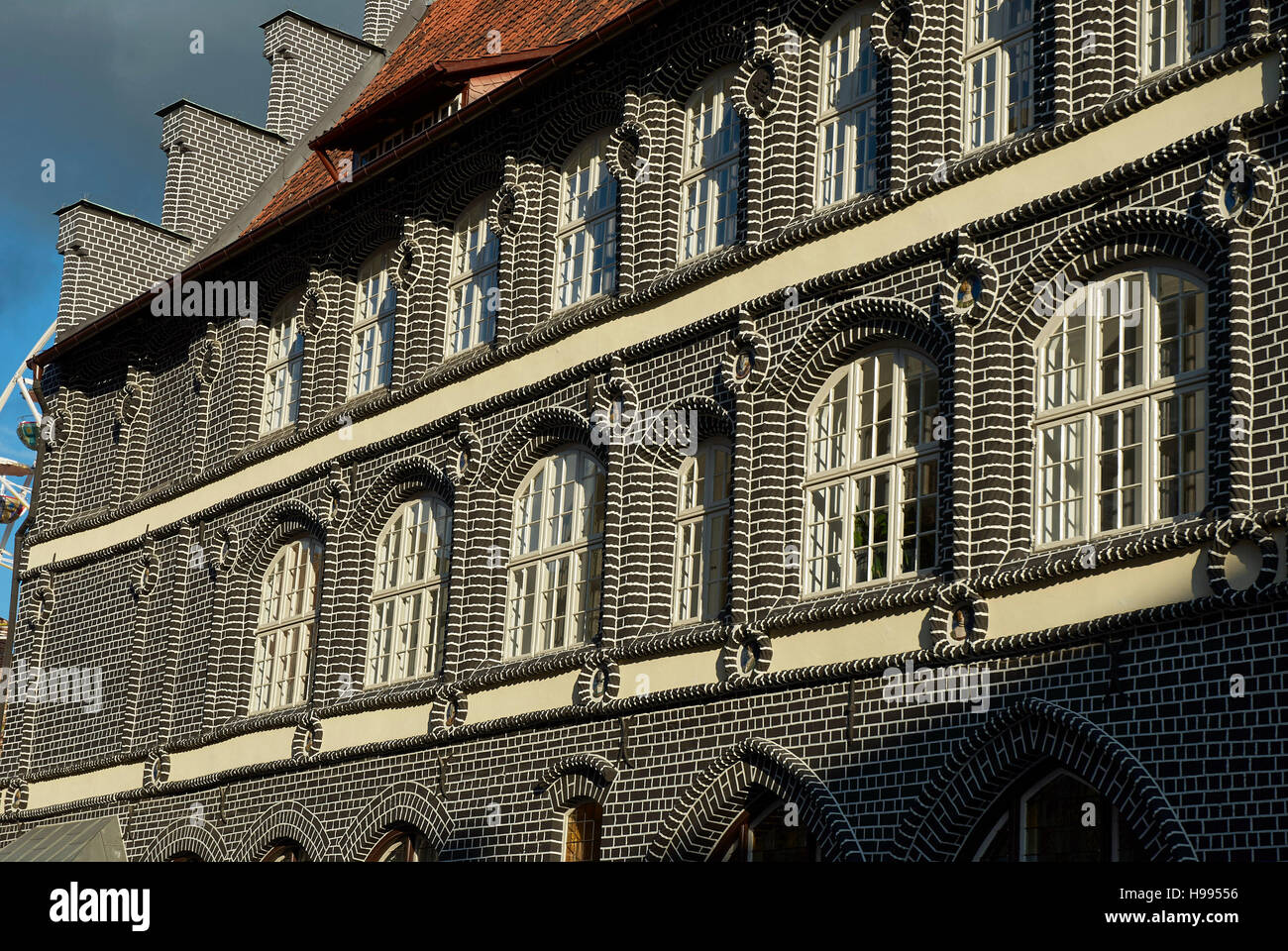 Historical Chamber of Commerce of the old Hansestadt Lüneburg, Germany - Stock Image