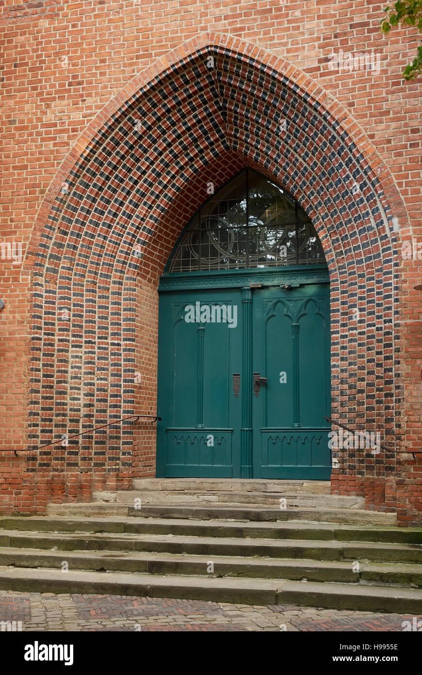 Gothic brick architecture, Church of John the Baptist, Lüneburg, Germany - Stock Image