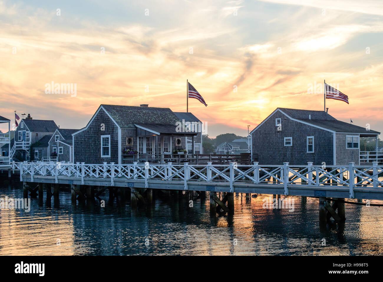 Nantucket Summer Sunset - Stock Image