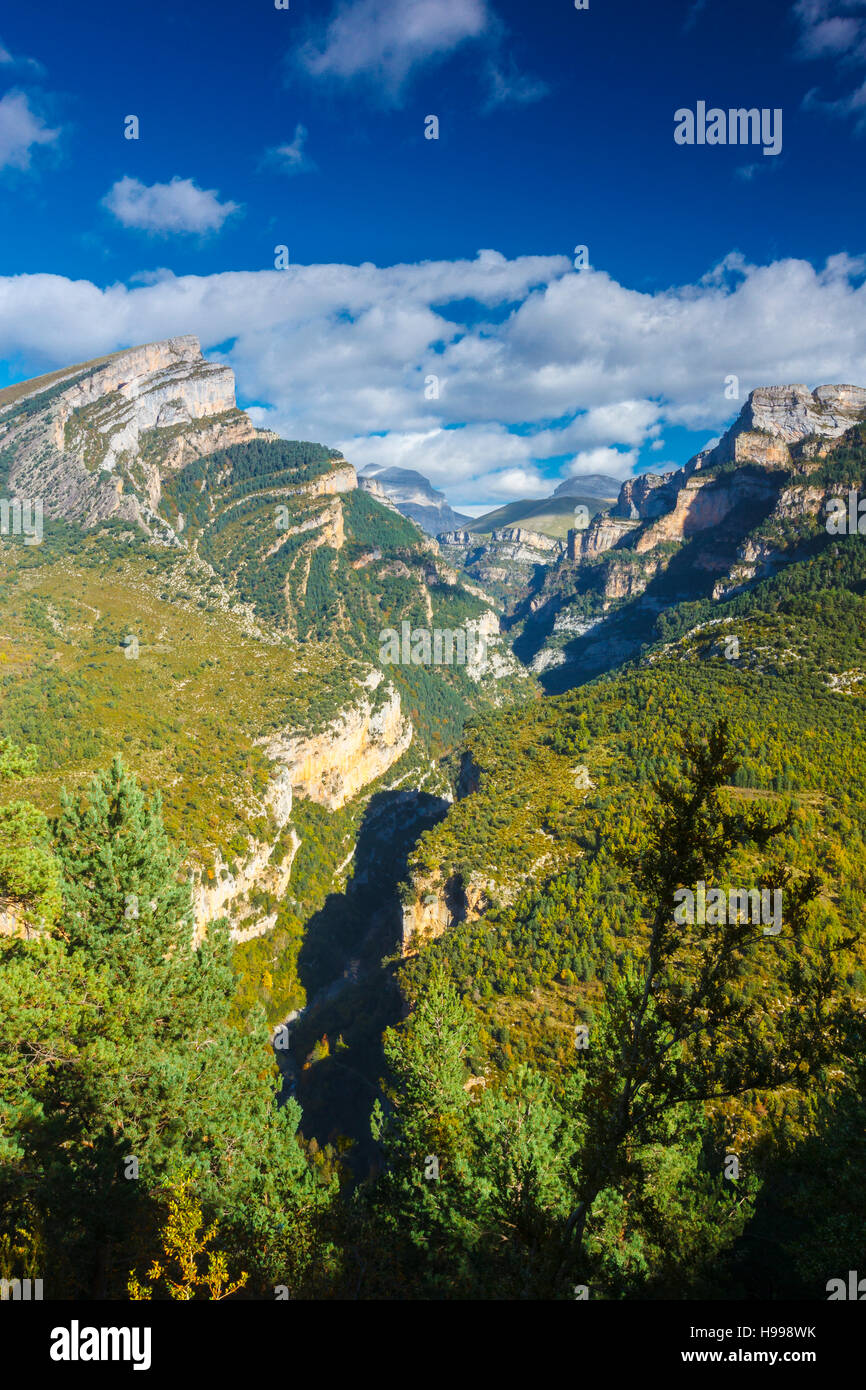 Añisclo Canyon. Ordesa National Park. Pyrenees, Huesca, Spain, Europe. Stock Photo