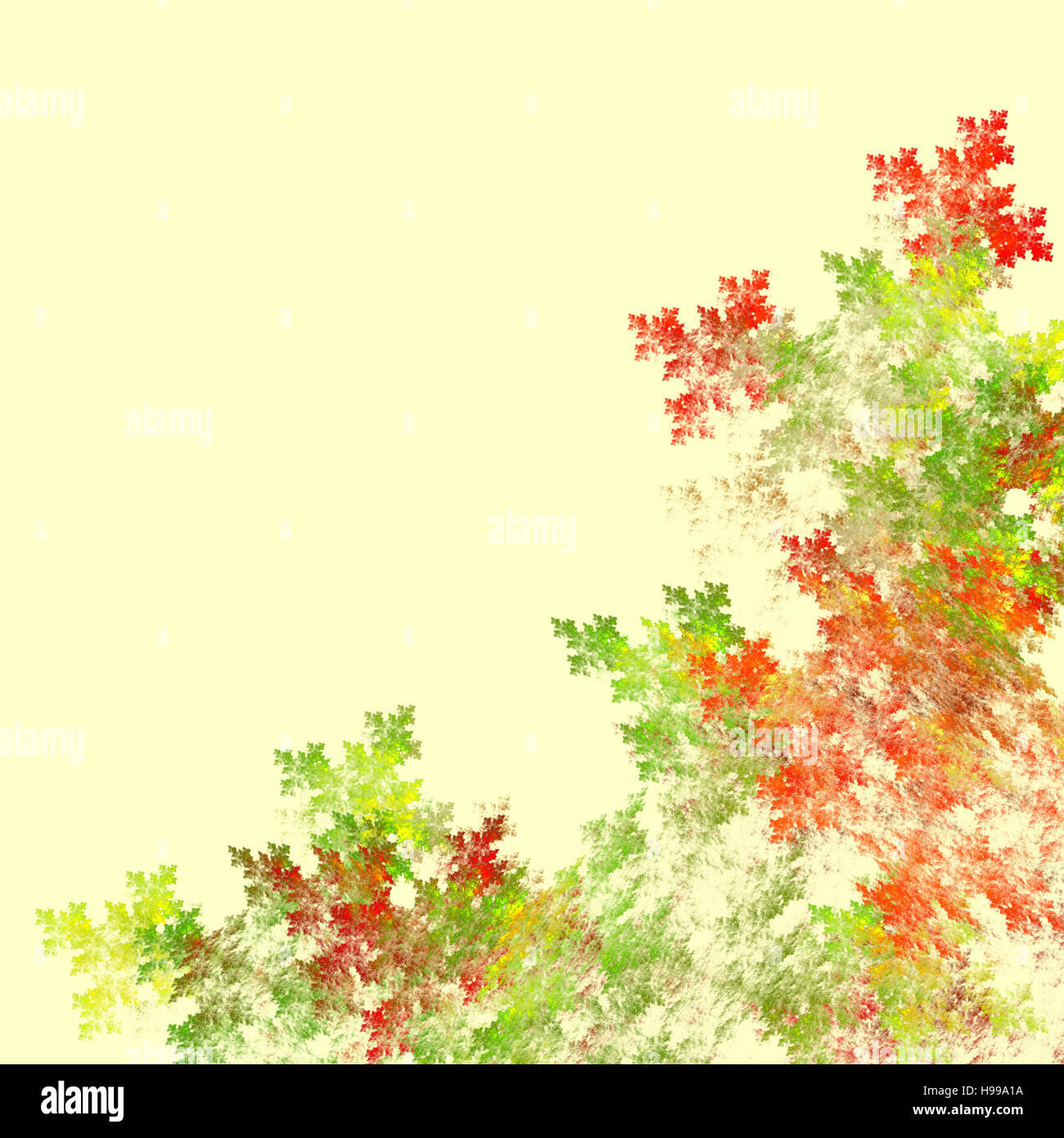 Abstract Fractal Background In Fall Colors Computer