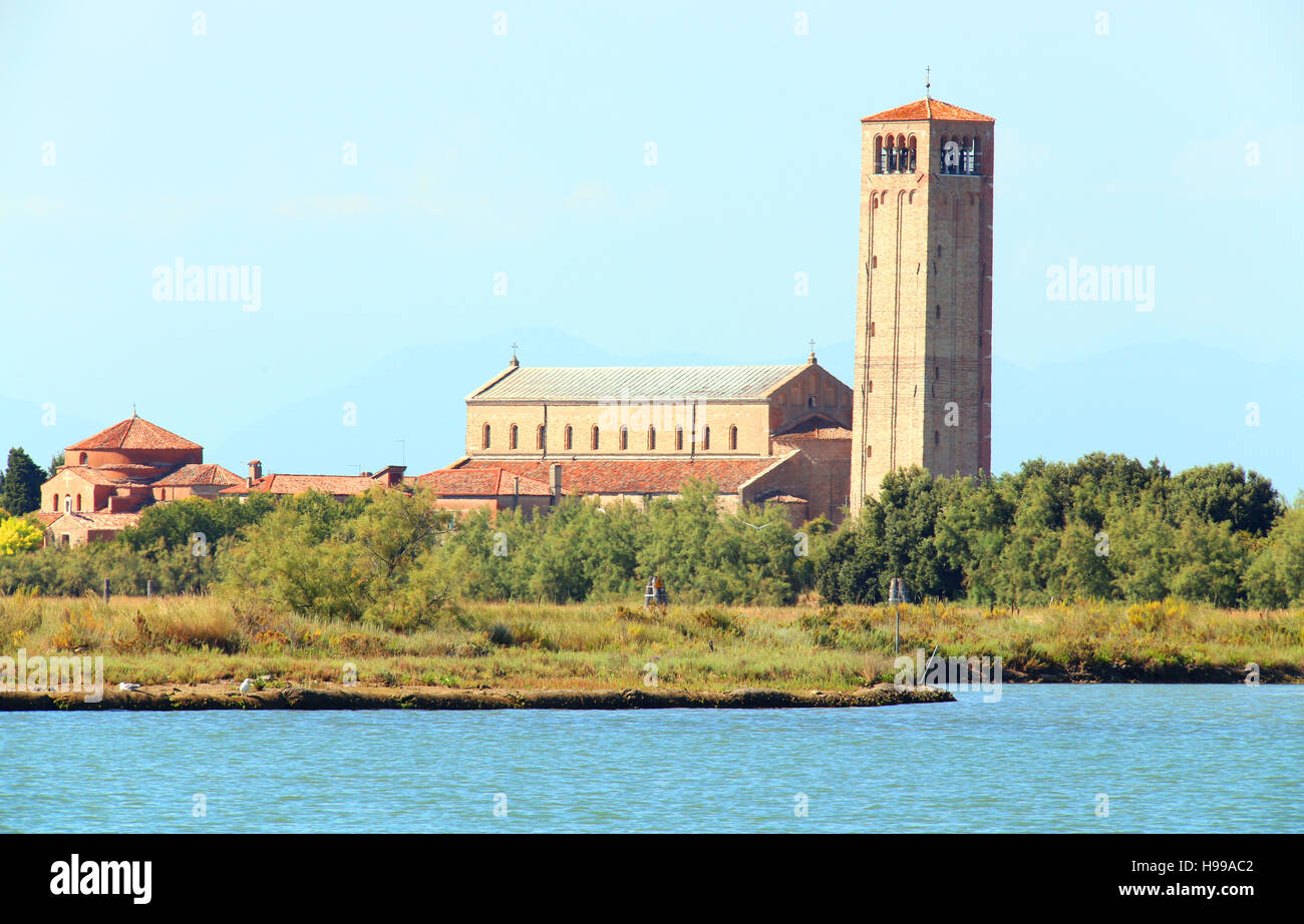Torcello is a sparsely populated island at the northern of the Venetian Lagoon - Stock Image