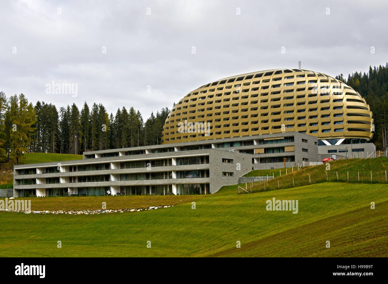 InterContinental Davos Hotel, Davos, Grisons, Switzerland - Stock Image
