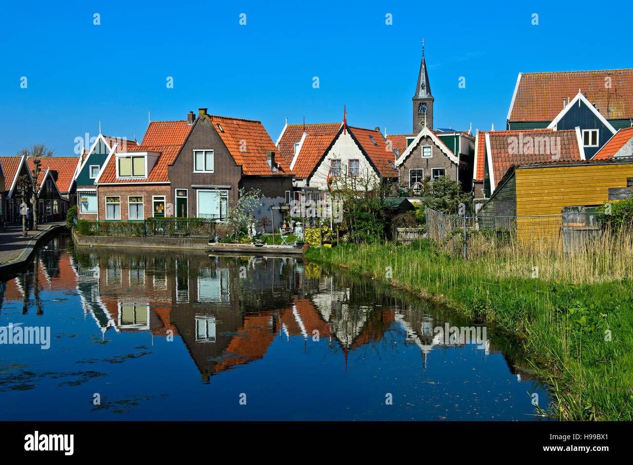 Romantic corner in Volendamm, North Holland, Netherlands - Stock Image