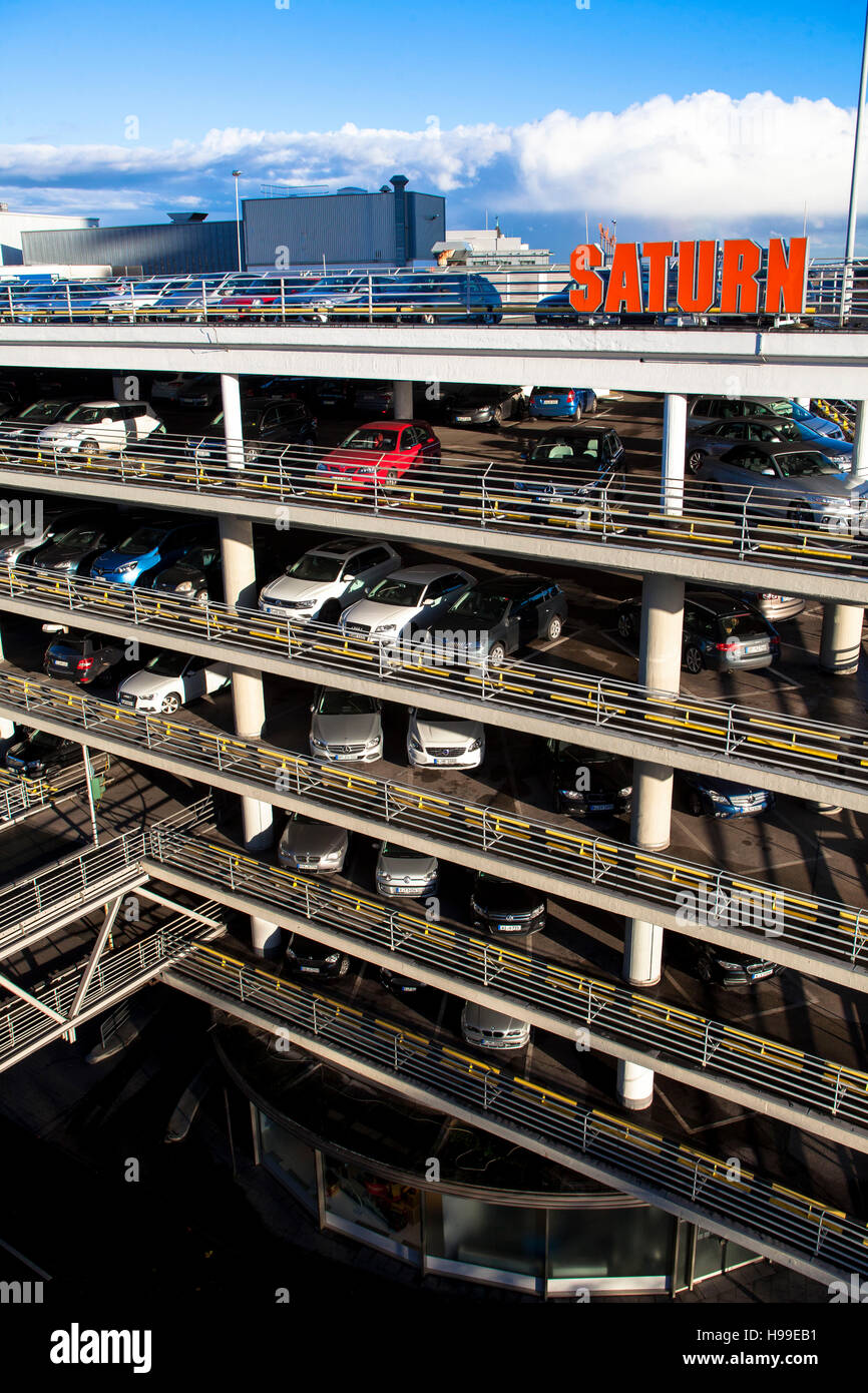 Europe, Germany, Cologne, multi-storey car park of the Kaufhof department store. Stock Photo