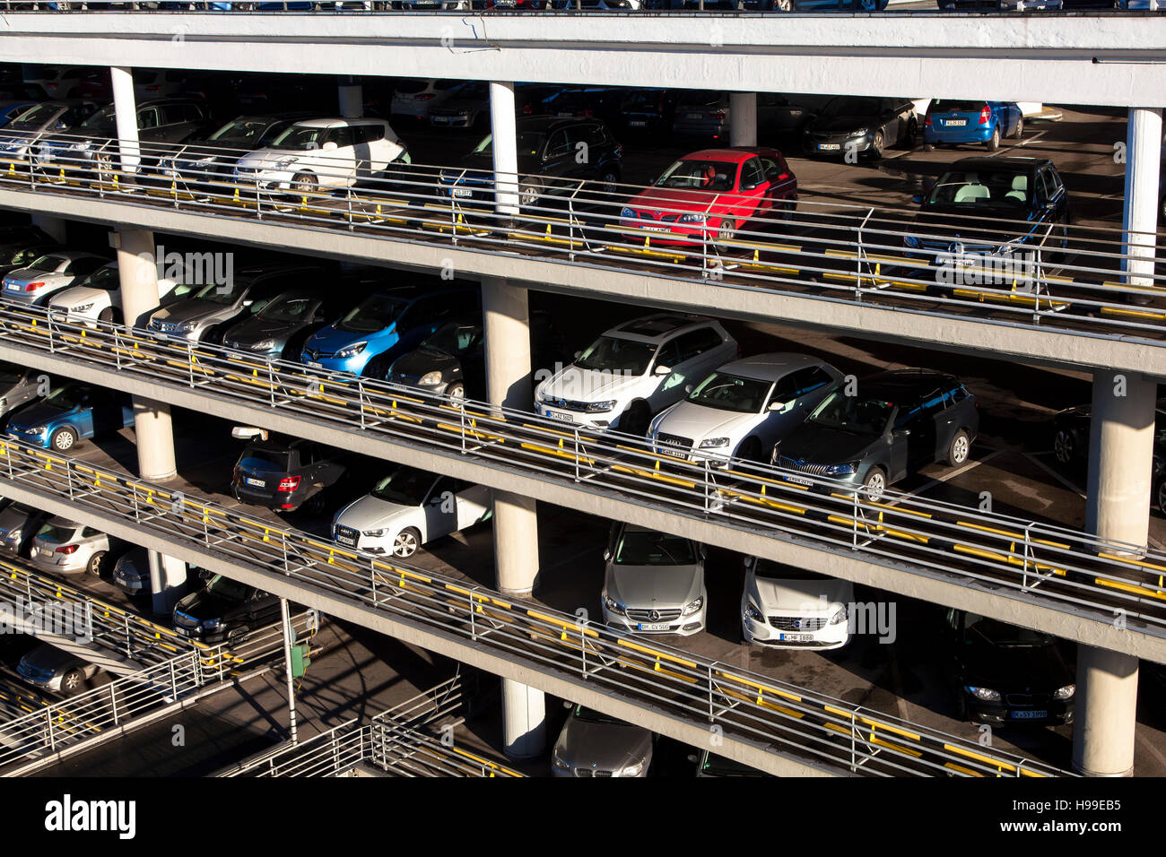 Europe, Germany, Cologne, multi-storey car park of the Kaufhof department store. - Stock Image