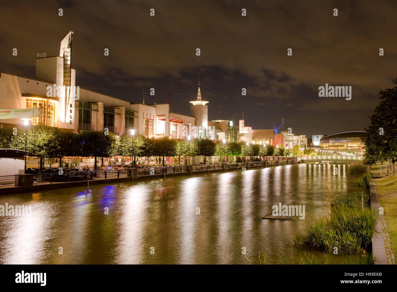 Germany,  Ruhr area, Oberhausen, the promenade at the shopping mall Centro in the district Neue Mitte. Stock Photo