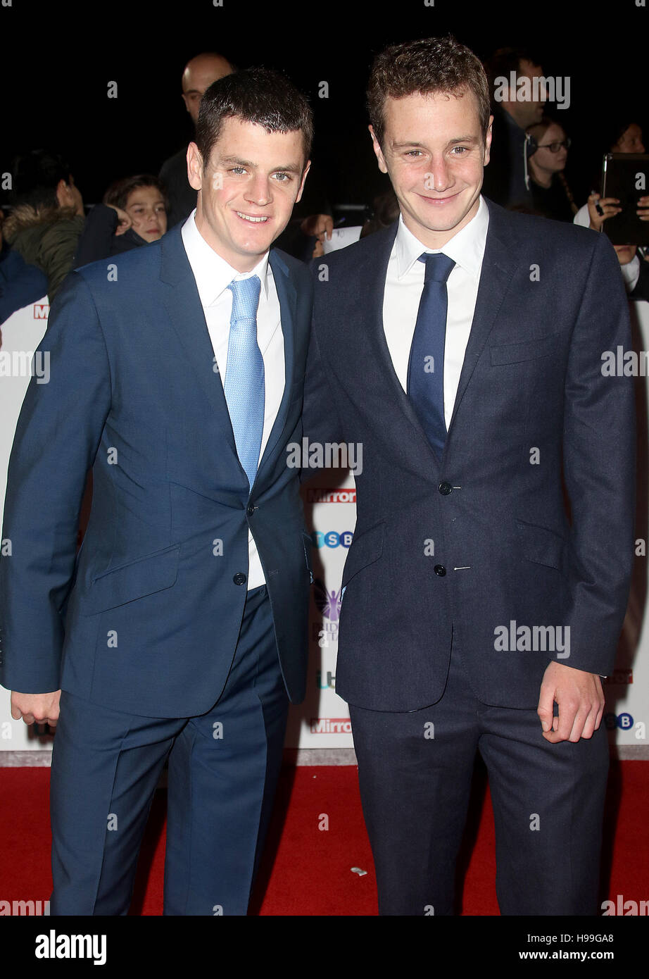 Oct 31, 2016  -  The Brownlee Brothers attending Pride Of Britain Awards 2016 at the Grosvenor House Hotel in London, - Stock Image