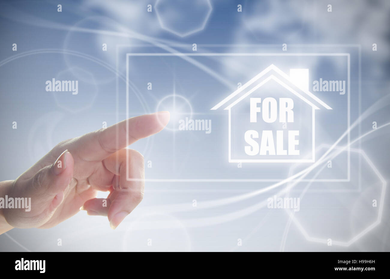 Property real estate for sale concept - Stock Image