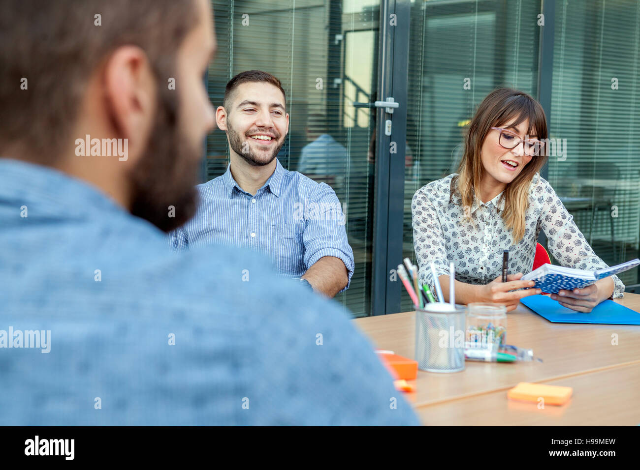 Discussion in business meeting - Stock Image