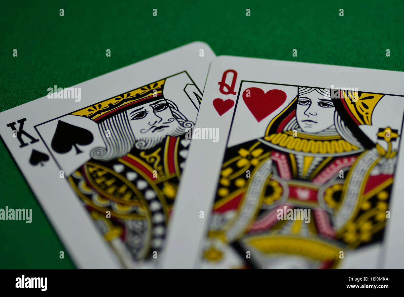Card Peak King Queen Game Poker Gambling Stock Photo Alamy