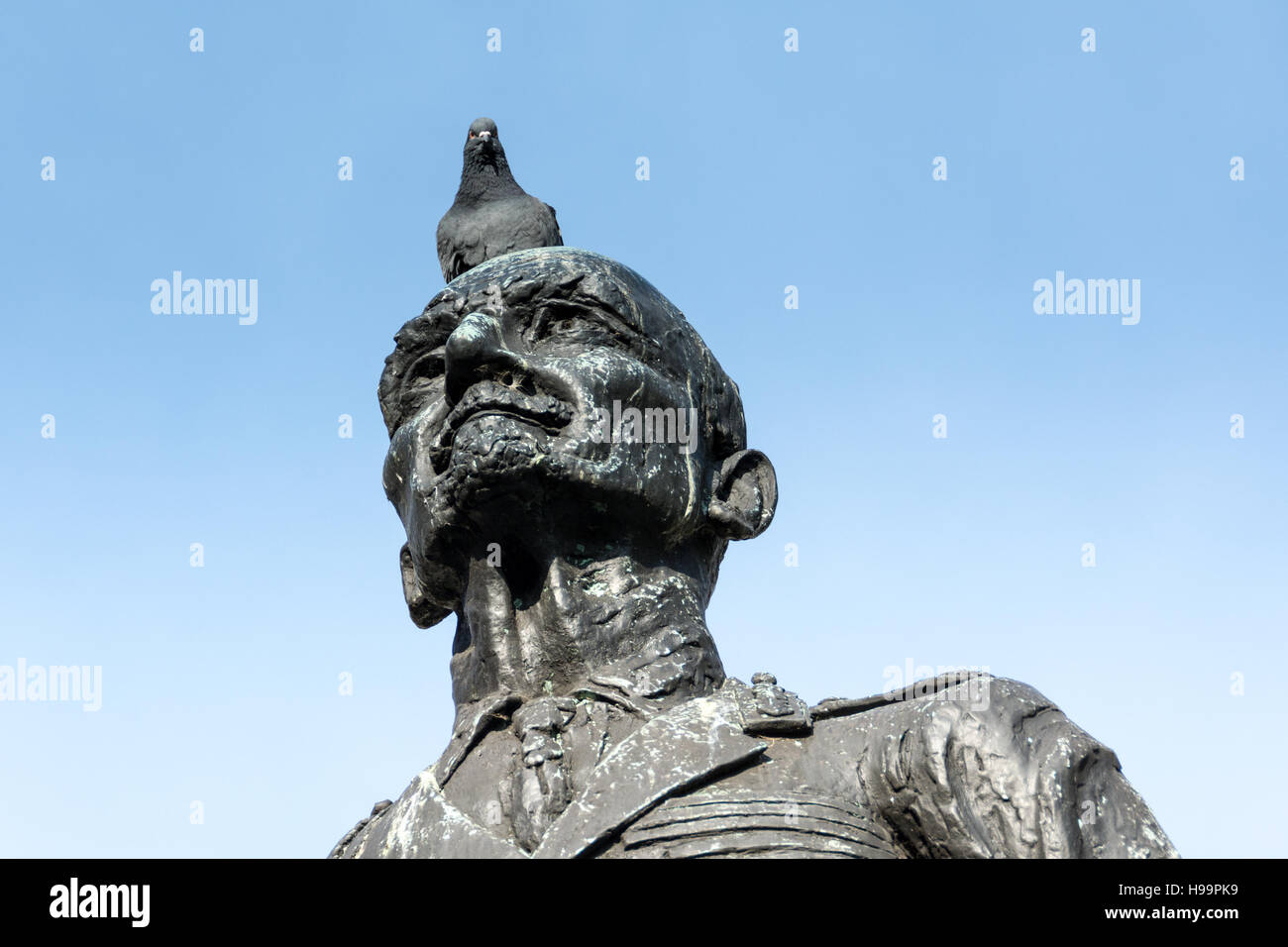 Statue of General Smuts, By Jacob Epstein, outside the Houses of Parliament in Parliament Square, London, England, - Stock Image