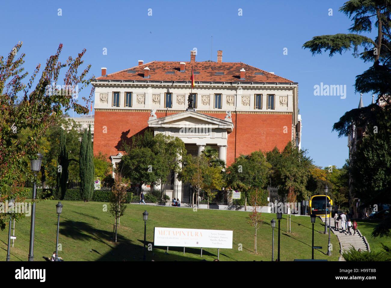 Madrid Spain 'Real Academia Espanola' edifice near el Prado - Stock Image