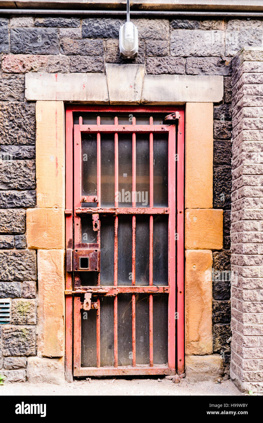 Steel barred doors in Crumlin Road Gaol a Victorian prison modelled on Pentonville in London. & Steel barred doors in Crumlin Road Gaol a Victorian prison modelled ...