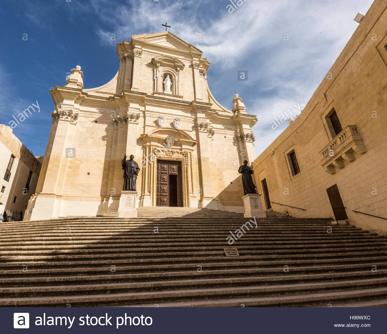 Cathedral within Citadel at Victoria on Gozo, Malta - Stock Image